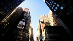 Time Lapse Point of View driving towards Empire State Building, NY, USA - stock footage