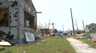 Stock Video Footage of Tornado Devastation in Neighborhood-22