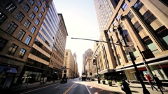 Point of View driving Midtown Manhattan, NY, USA - stock footage