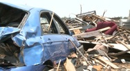 Stock Video Footage of Tornado Devastation in Neighborhood-14
