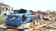 Stock Video Footage of Tornado Devastation in Neighborhood-13