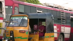 Traffic in India closeup Stock Footage