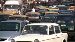 Traffic jam in Mumbai, India's commercial city Stock Footage