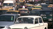 Stock Video Footage of Traffic jam in Mumbai, India's commercial city