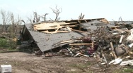 Stock Video Footage of Tornado Devastation in Neighborhood-03