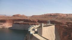 Glen Canyon Dam Lake Powell Pan Stock Footage