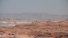 Zoom out Lake Powell Stock Footage
