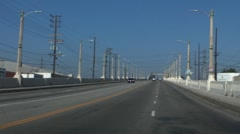 6th street bridge LA smog Stock Footage