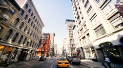 Point of View driving Midtown Manhattan, NY, USA Stock Footage