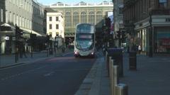 Glasgow City Double Decker Bus On Argyle Street At Glasgow Central Train Station Stock Footage