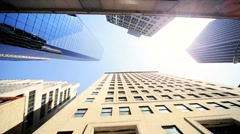 Stock Video Footage of High Angle Vertical approach to a Cities Resolution to Urban Living, NY,USA