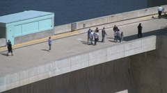 Fast zoom out Glen Canyon Dam Stock Footage