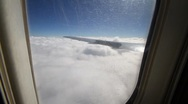 Stock Video Footage of View from plane clouds 07