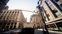 Time Lapse Point of View driving Midtown Manhattan, NY, USA Stock Footage