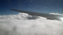 View from plane clouds 08 Stock Footage