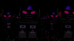 Evil Robot Army (HD) Stock Footage