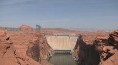 Glen Canyon Dam Front Stock Footage