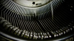 Stock Video Footage of typewriter