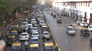 Stock Video Footage of Traffic jam on a busy road in Mumbai