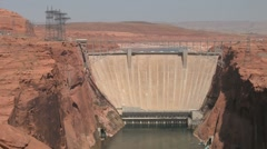 Glen Canyon Dam Front 2 Stock Footage