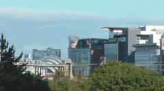Skyline Of Modern Skyscrapers In Glasgow With The Motorway M8 Stock Footage