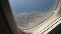 View from plane littoral Stock Footage