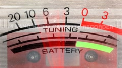Power and battery levels vintage ghettoblaster Stock Footage