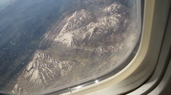 View from plane mountains Stock Footage