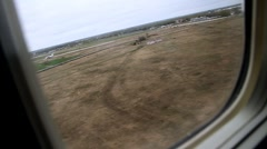View from plane touchdown Stock Footage