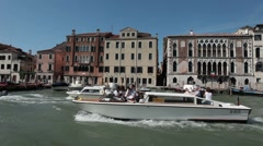 Venice Grand Canal from boat P HD 1245 Stock Footage