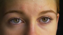Close-up of woman's eyes - stock footage
