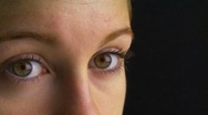 Close-up of woman's eyes Stock Footage