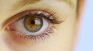 Close-up of woman's eye Stock Footage