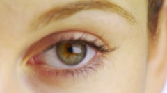 Close-up of woman's eye - stock footage
