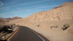 Open road POV Stock Footage