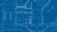 Architecture blueprint Stock Footage