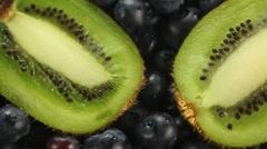 Fresh Juicy Kiwi Close Up - stock footage