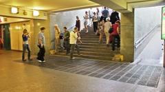 Underground passage Stock Footage