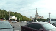 Stock Video Footage of Traffic On The Streets Of Moscow