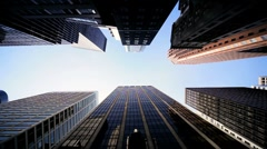 High Angle Vertical approach to a Cities Resolution to Urban Living, NY,USA - stock footage
