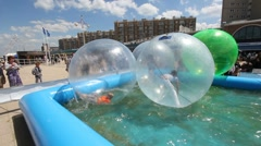 Waterballs Stock Footage