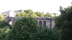 Luxembourg City Stock Footage