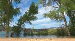Lake near Escalante, Dixie National Forest, Utah, USA Stock Footage