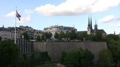 Luxembourg - City Stock Footage