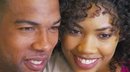 Close-up of African American couple kissing Stock Footage