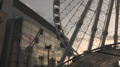Twilight At The Wheel Of Manchester Located At Arndale Centre England UK - stock footage
