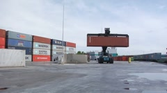 Logistics. Crane. Container.  Stock Footage