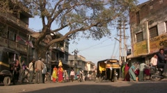 Main street in rural India Stock Footage