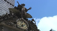 Stock Video Footage of Time Lapse - Grand Central Terminal Exterior