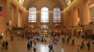 Stock Video Footage of Time Lapse - Grand Central Terminal Interior WS